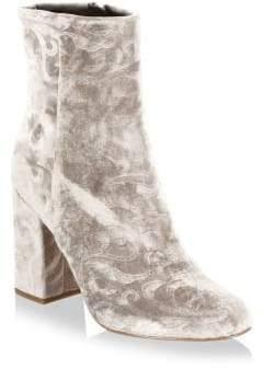 Rebecca Minkoff Bryce Velvet Block Heel Booties