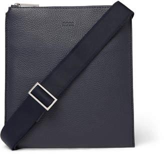HUGO BOSS Full-Grain Leather Messenger Bag - Men - Blue