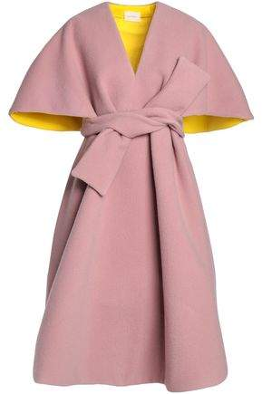 Cape-Effect Wool And Mohair-Blend Coat