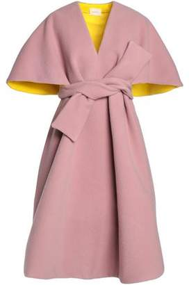 DELPOZO Cape-Effect Wool And Mohair-Blend Coat