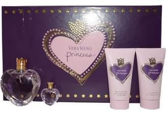 Vera Wang Princess By 4 Piece Set: 1.7oz EDT Spray+2.5 Oz Satiny Body Lotion+ 2.5 Oz Foamy Body Polish+ 0.13 Oz/4ml Parfum