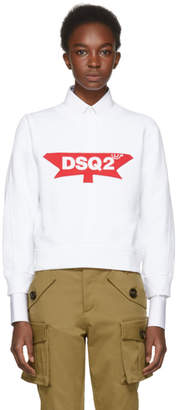 DSQUARED2 White Canada Sweatshirt