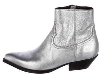 Saint Laurent 2015 Metallic Santiag Ankle Boots