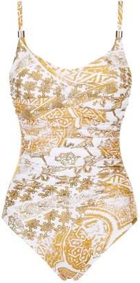 Maryan Mehlhorn Orient Print Underwired Swimsuit