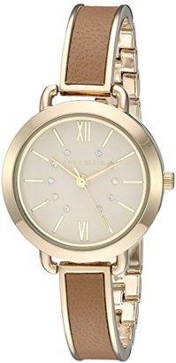 Anne Klein (アン クライン) - Anne Klein Women 's AK / 2436dtgbスワロフスキークリスタルアクセントゴールド調andダークタンバングル腕時計