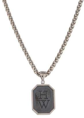 Harry Winston Diamond HW Logo Pendant Necklace