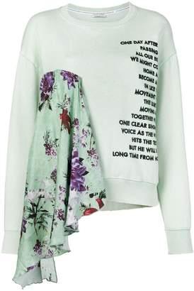 Each X Other floral printed loose sweatshirt