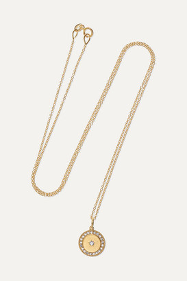 Andrea Fohrman Full Moon 18-karat Gold Diamond Necklace