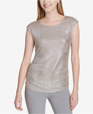 Calvin Klein Metallic Top