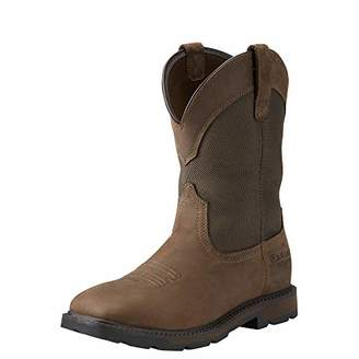Ariat Mens Groundbreaker Sq Toe H20 Steel Toe Clogs/Shoes 11.5 D/Medium(Width) Palm Brown