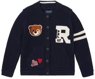 Polo Ralph Lauren Knitted Patch Cardigan