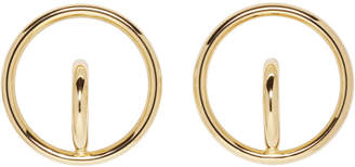 Charlotte Chesnais Gold Large Saturn Blow Earrings