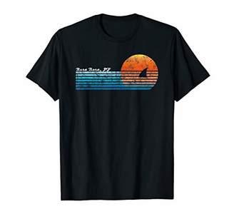 Vintage Bora Bora Retro 80s Shark Fin Sunset T-Shirt