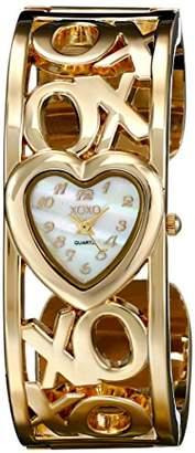 XOXO Women's XO1091 Mother-of-Pearl Dial Gold-tone Bangle Watch