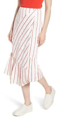 Lewit Stripe Faux Wrap Skirt