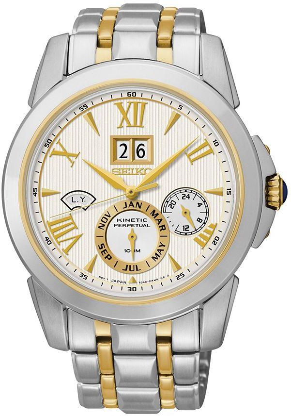 SeikoSeiko Men's Le Grand Sport Two Tone Stainless Steel Kinetic Watch - SNP066