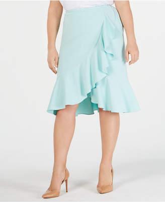 bc1cbf201e Calvin Klein Plus Size Ruffled Tulip-Hem Skirt