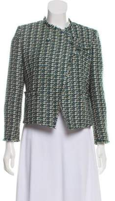 Band Of Outsiders Tweed Button-Up Jacket Green Tweed Button-Up Jacket