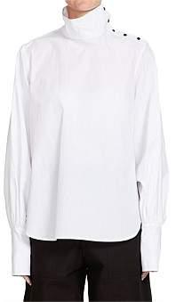 Bassike Cotton Funnel Neck Shirt