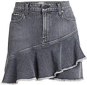 Alice + Olivia Jeans Jeans Women's Mini Denim Flounce Skirt