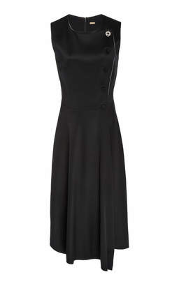 ADAM by Adam Lippes Asymmetric Hem Satin Dress