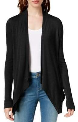 INC International Concepts Asymmetrical Long-Sleeve Cardigan