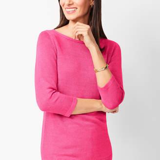 Talbots Linen Bateau-Neck Sweater