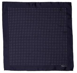 Ralph Lauren Purple Label Printed Silk Pocket Square