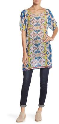 Johnny Was Scoop Neck Patterned Tunic