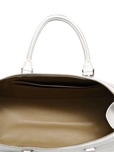 Jil Sander Large Jil Mock Croc Leather Bag