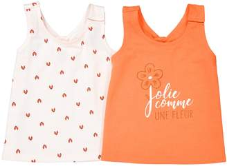 La Redoute Collections Pack of 2 Printed Vest Tops, 1 Month-3 Years