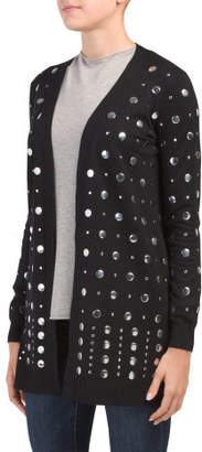 Open Front Studded Cardigan