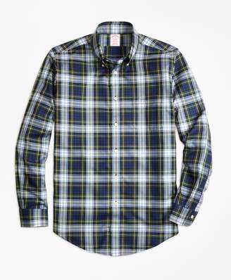 Brooks Brothers Non-Iron Madison Fit Dress Gordon Tartan Sport Shirt