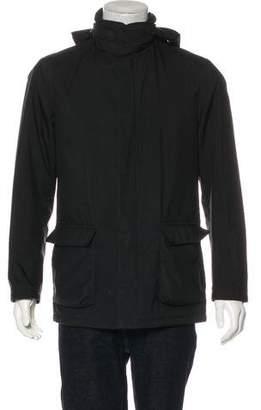 Loro Piana Hooded Goatskin-Trimmed Winter Voyager Jacket
