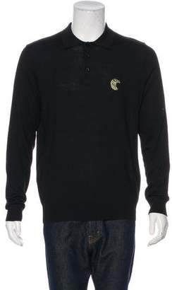 Couture Billionaire Italian Wool-Blend Polo Shirt w/ Tags
