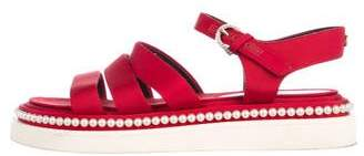 Chanel Faux-Pearl Grosgrain CC Sandals