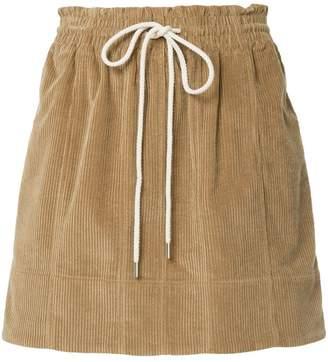 Bassike drawstring midi skirt