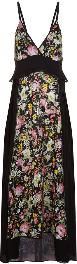 3.1 Phillip Lim 3.1 Phillip Lim Black Meadow Print Cami Slip Dress