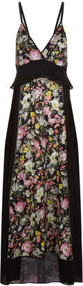 3.1 Phillip Lim Black Meadow Print Cami Slip Dress