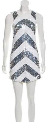 Alice + Olivia Sequined Shift Dress