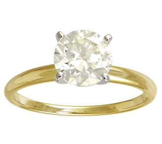 Affinity Diamond Jewelry Affinity 1-1/2 cttw Diamond Solitiare Ring,14K Yellow Gold