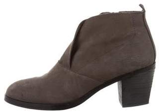 Eileen Fisher Suede Round-Toe Ankle Boots