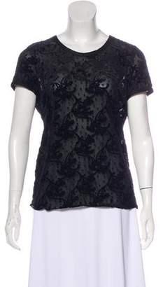 Armani Collezioni Burnout Short Sleeve Dress