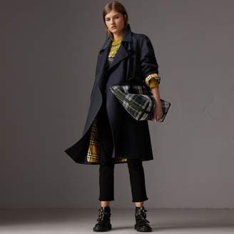 Burberry Tropical Gabardine Asymmetric Trench Coat