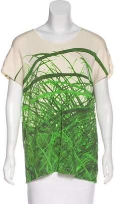 Akris Silk Grass Print Top