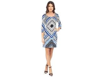 Jessica Simpson Printed Ity Shift Dress Women's Dress