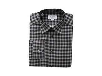 Eton Contemporary Fit Plaid Flannella Button Down Shirt