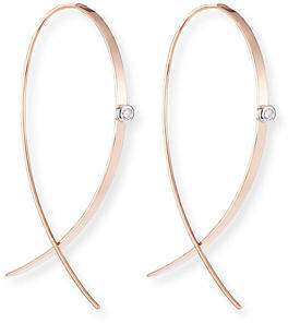 Lana Small Flat Diamond Hoop Earrings