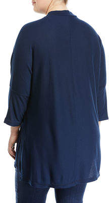 Melissa McCarthy Mock-Neck Ribbed Tunic, Plus Size