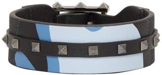 Valentino Blue Garavani Camo Rockstud Bracelet